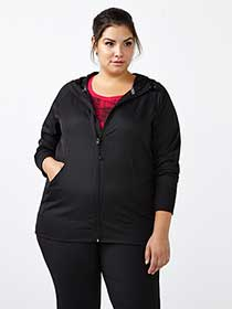 Essentials - Plus-Size Hooded Rain Jacket