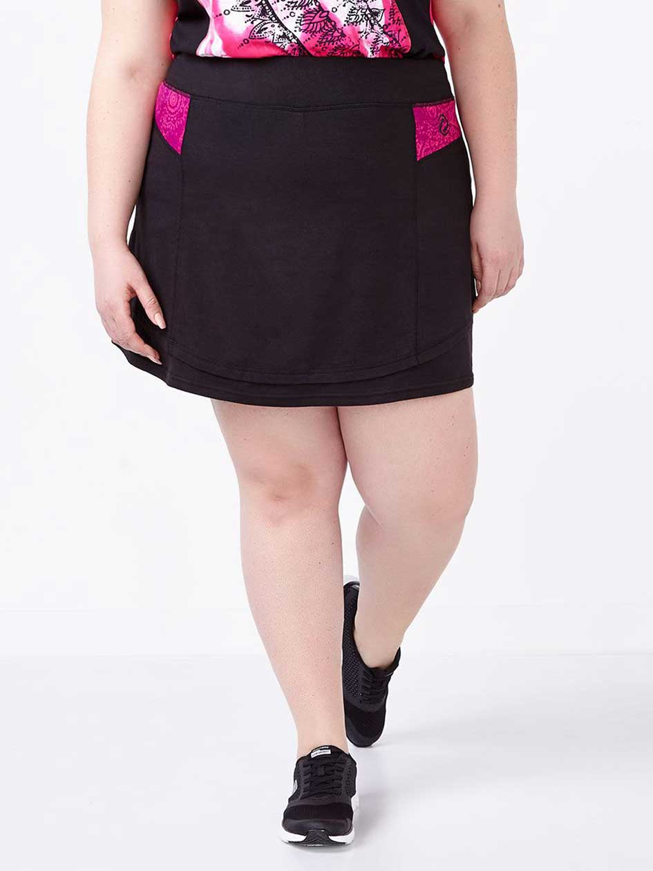 Essentials - Plus-Size Printed Skort