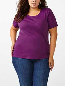 Shaped Fit Scoop Neck T-Shirt