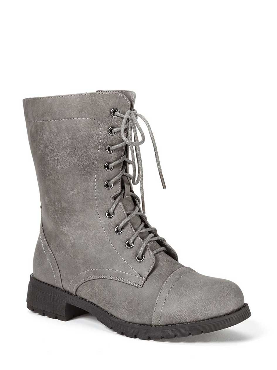 Wide-Width Lace Up Booties
