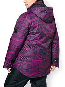 ActiveZone Plus-Size Printed 3-in-1 Jacket
