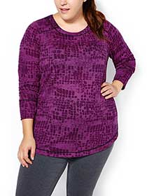 Sports - Plus-Size Long Sleeve T-Shirt