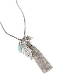 Long Necklace with Tassel and Pendant