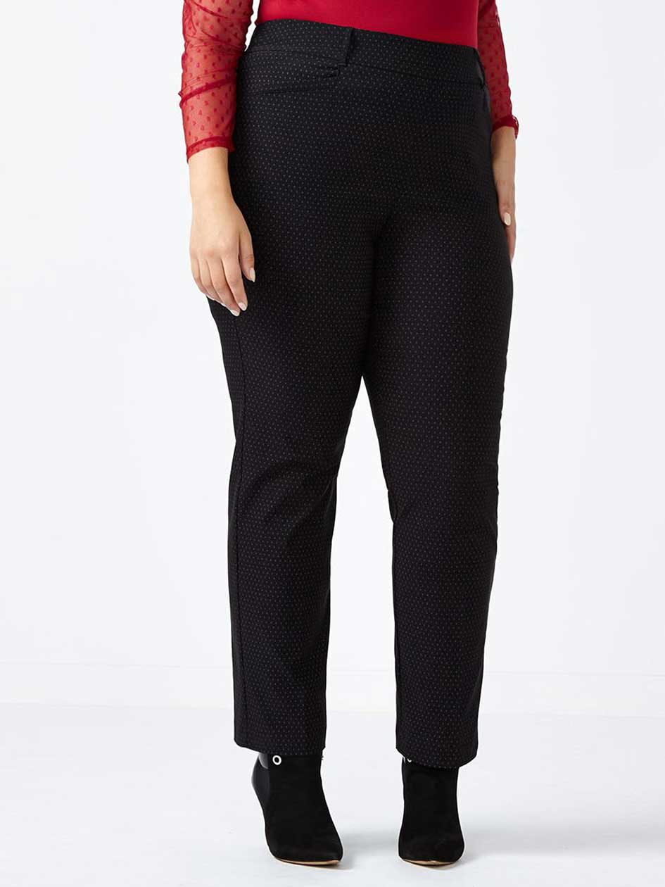 Petite Savvy Soft Touch Straight Leg Printed Pant
