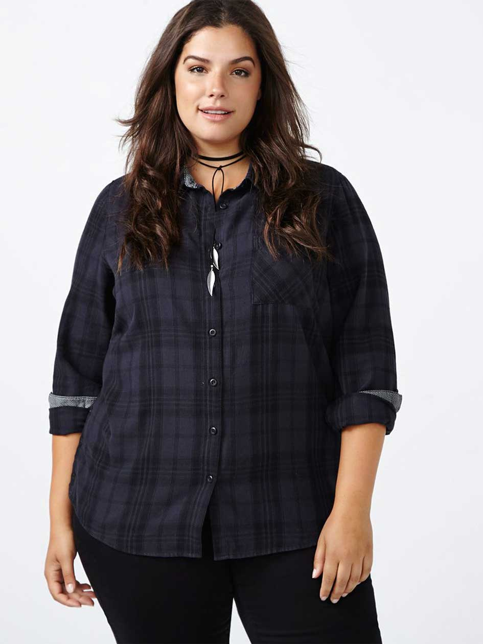 d/c JEANS Cotton Plaid Shirt