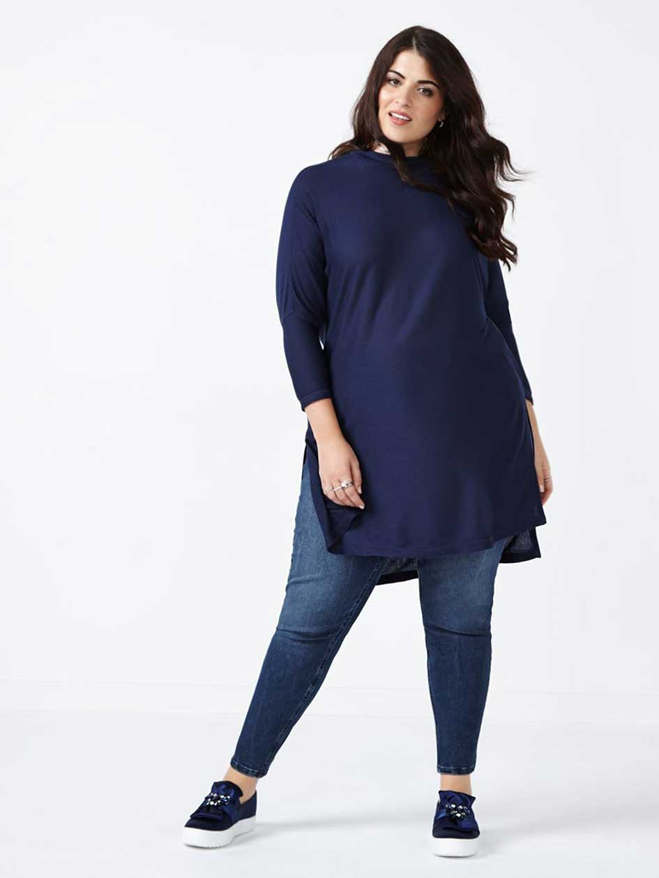MELISSA McCARTHY Mock Neck Knit Top