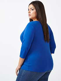 Curve Fit 3/4 Sleeve T-Shirt