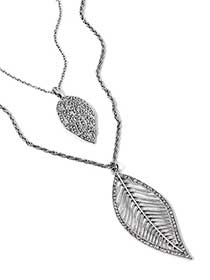 Dual-Chain Leaf Necklace