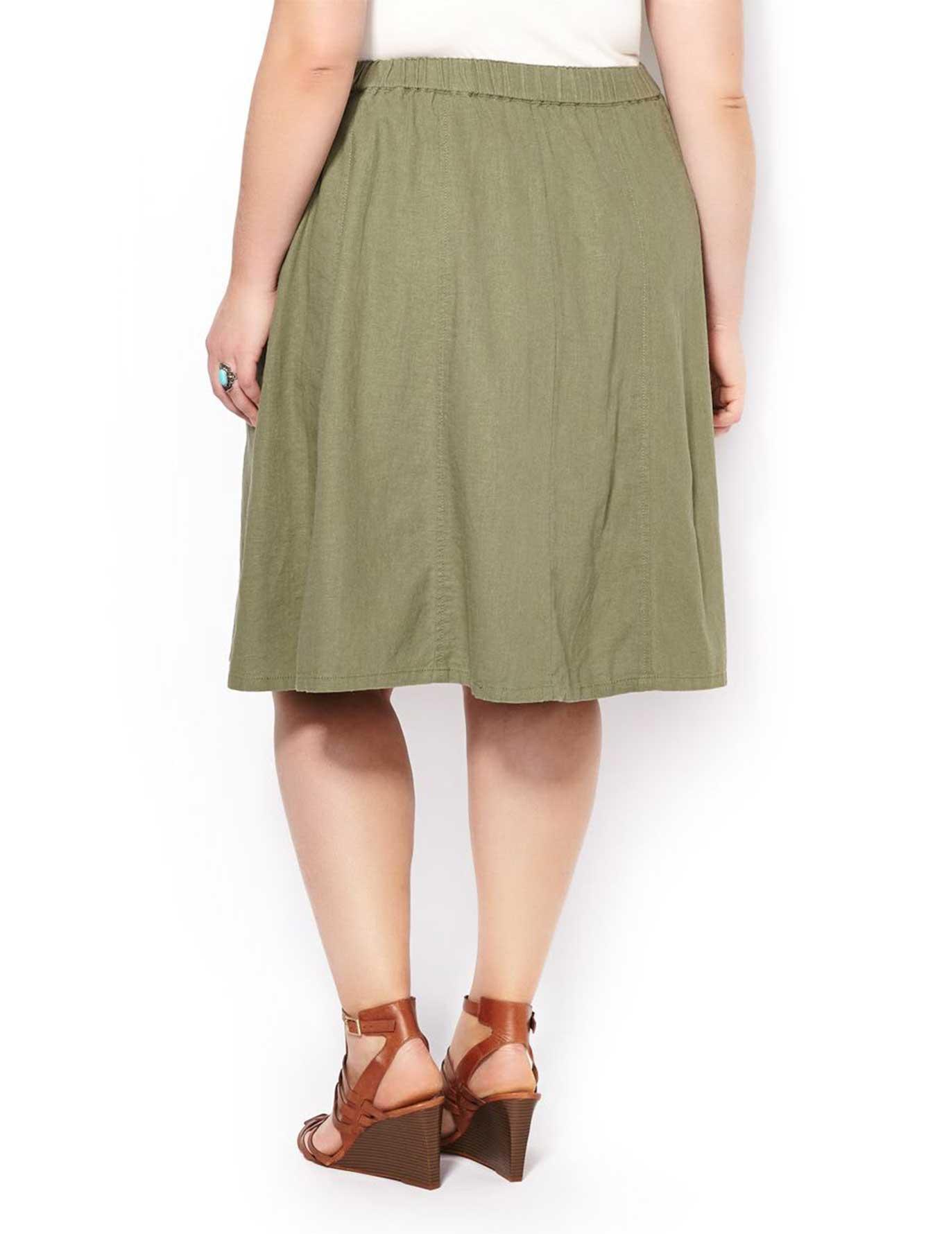 Flared Linen Skirt 75
