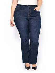 ONLINE ONLY - d/c JEANS Tall Slightly Curvy Fit Bootcut Jean