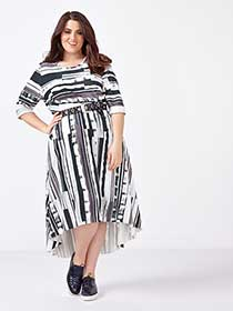 MELISSA McCARTHY 3/4 Sleeve Printed Dress