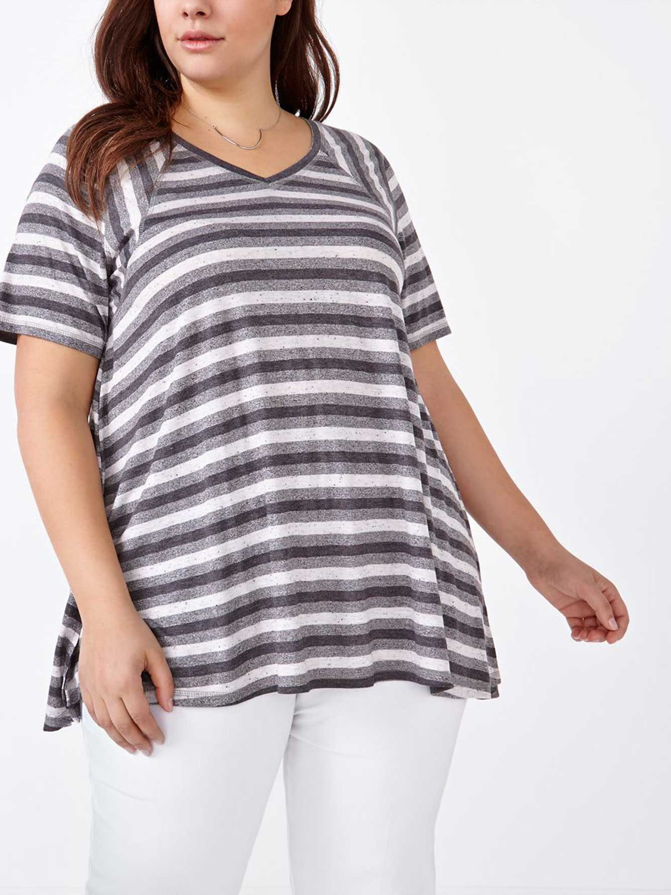 Relaxed fit striped t shirt penningtons for Relaxed fit t shirt