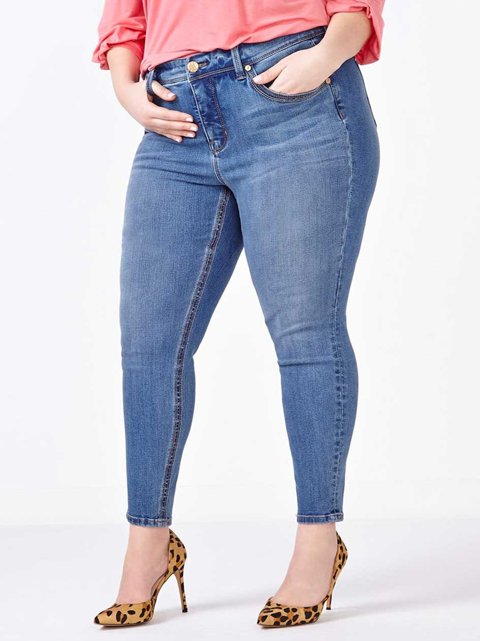MELISSA McCARTHY Pencil Jean.Medium Denim Wash.16