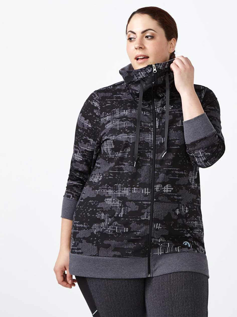 Essentials - Plus-Size Reflective Print Jacket