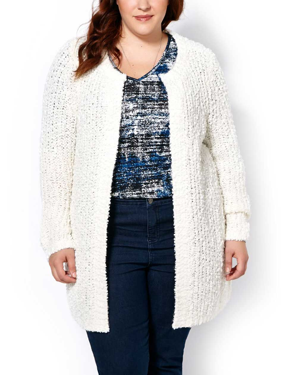 d/c JEANS Long Sleeve Knit Cardigan