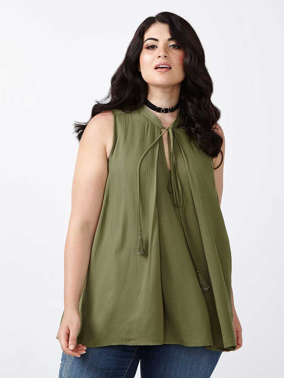 MELISSA McCARTHY Sleeveless Swing Blouse