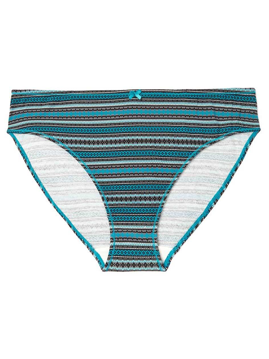 Ti Voglio Printed Cotton High Cut Brief Panty
