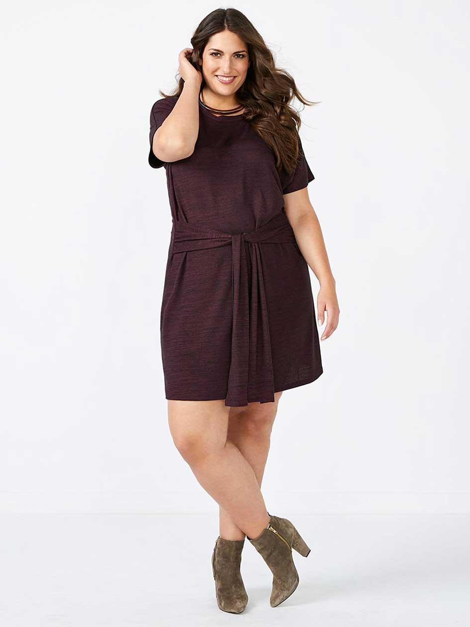 Short Sleeve Dress with Sash