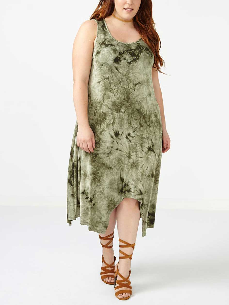 ONLINE ONLY Tie Dye Sharkbite Dress