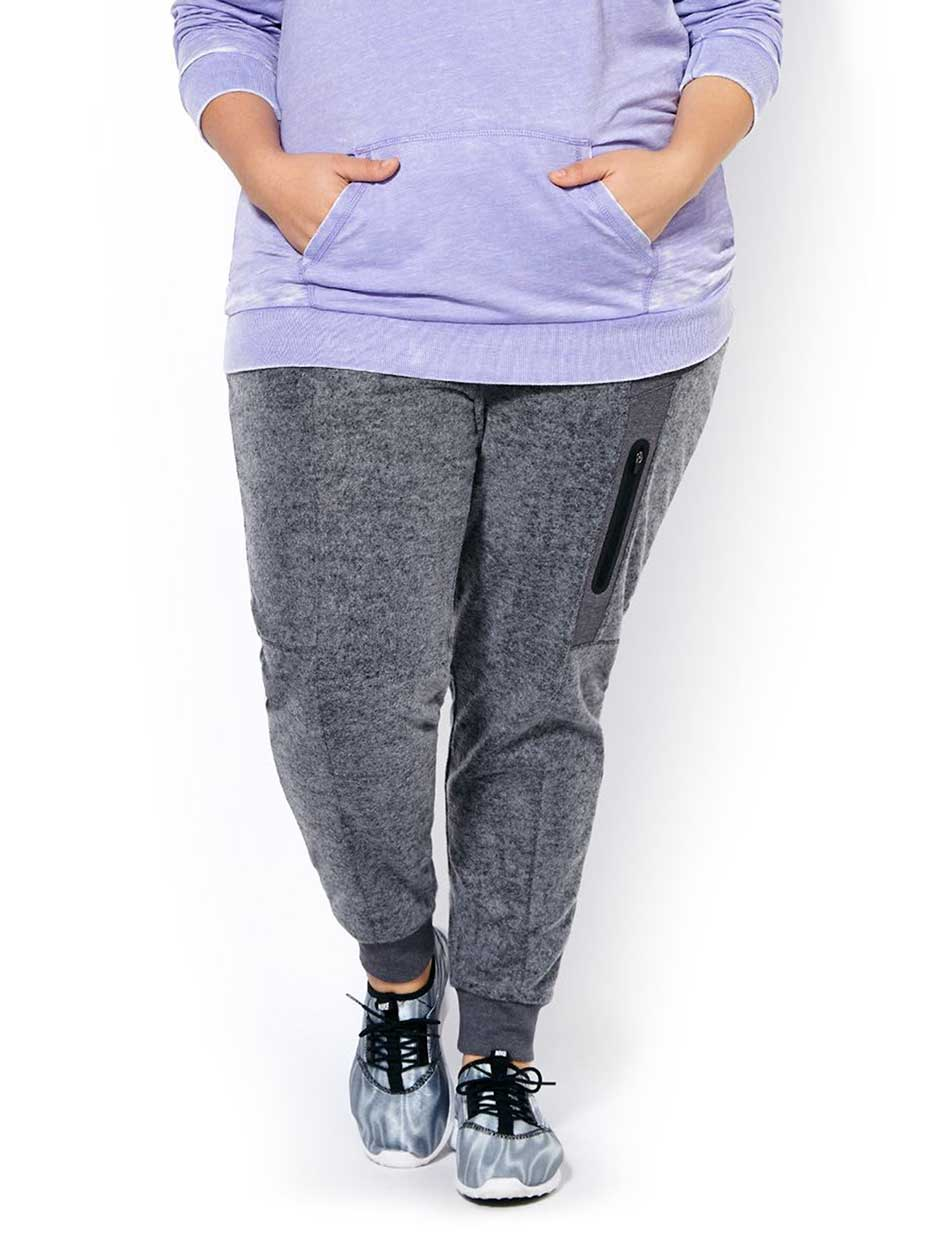 Athleisure - Plus-Size Fleece Jogger Pant