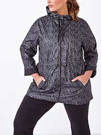Essentials - Plus-Size Hooded Reflective Jacket