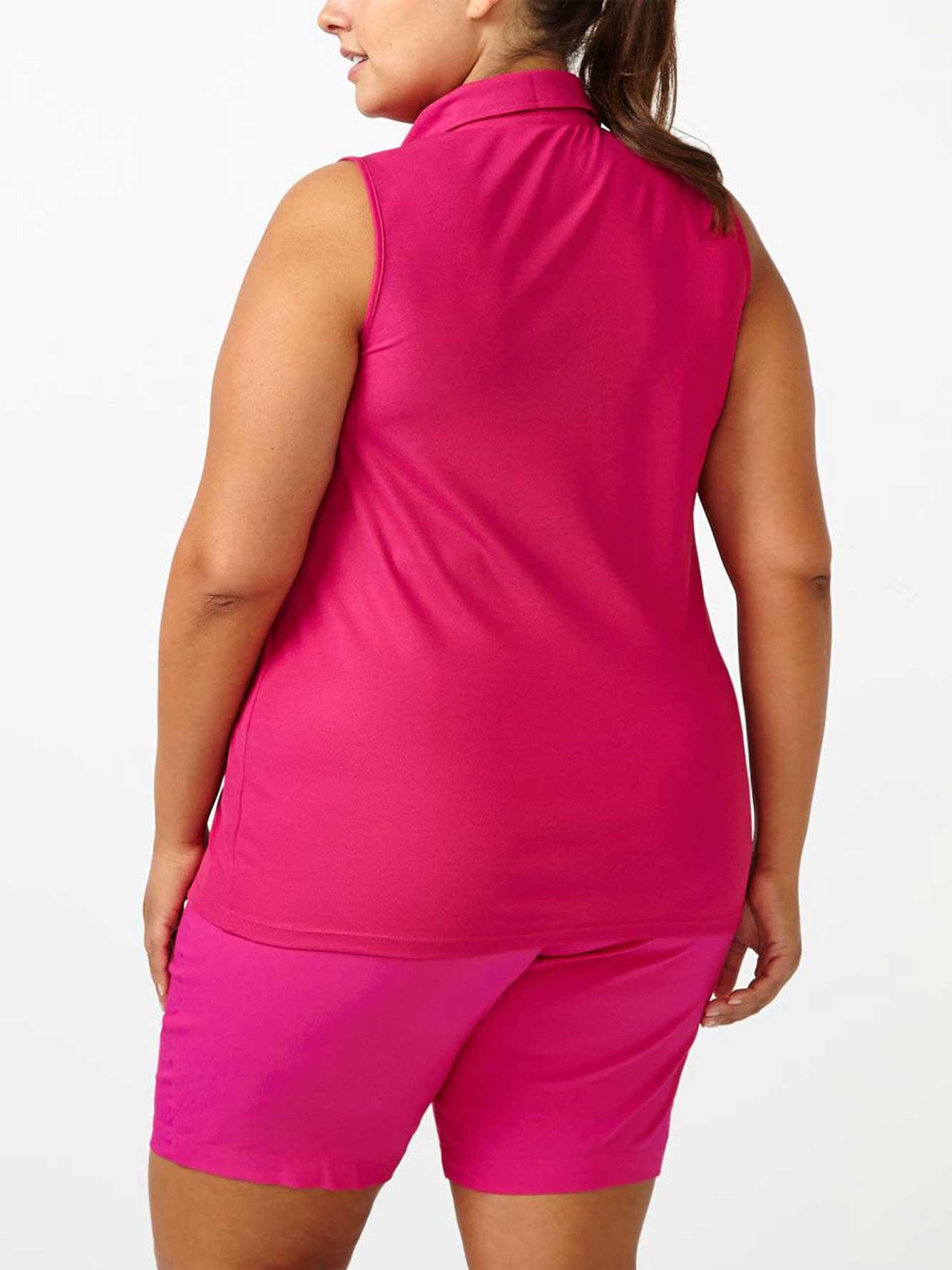 Sports plus size sleeveless golf top penningtons for Plus size sleeveless golf shirts