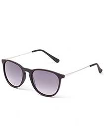 Plastic Sunglasses with Metal Temples