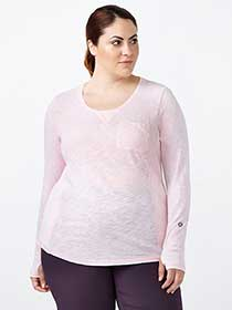 Sports - Plus-Size Ribbed Top