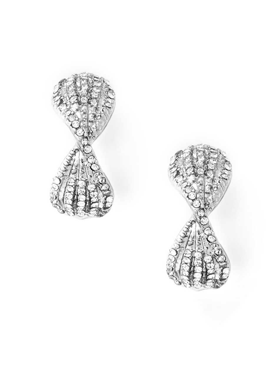 Criss-cross Earrings with Gems