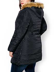 Faux-Fur Hooded Down Jacket