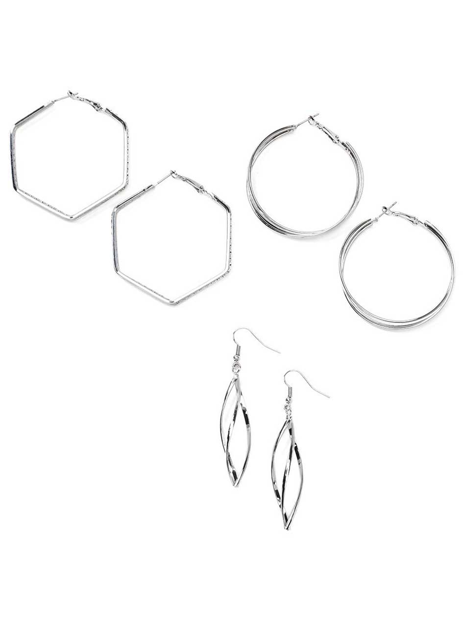3 Pairs of Earrings