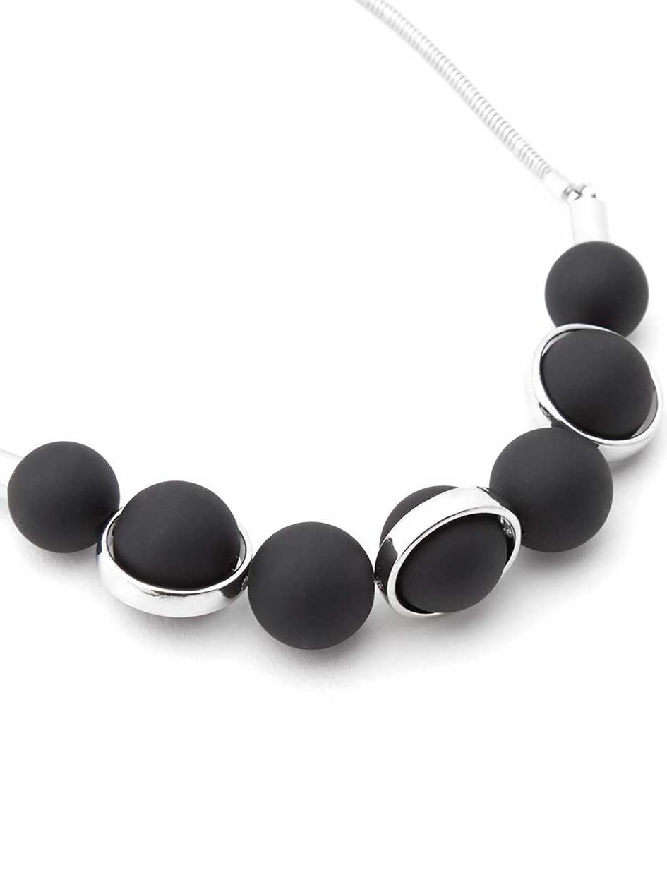 Rubberized Statement Necklace