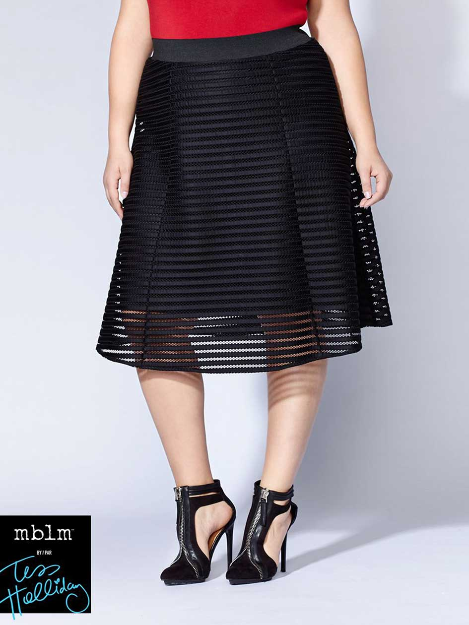 Tess Holliday - Flared Mesh Skirt