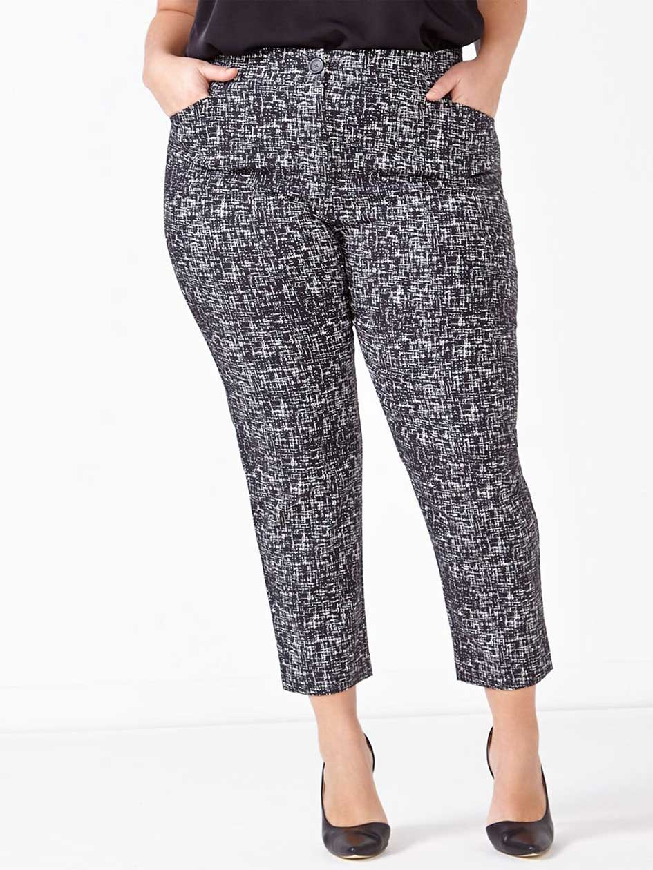 Savvy Chic Printed Ankle Pant