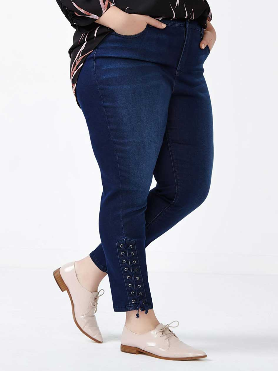 MELISSA McCARTHY Lace-Up Pencil Jean
