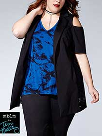 Tess Holliday - Elbow Sleeve Cold Shoulder Jacket