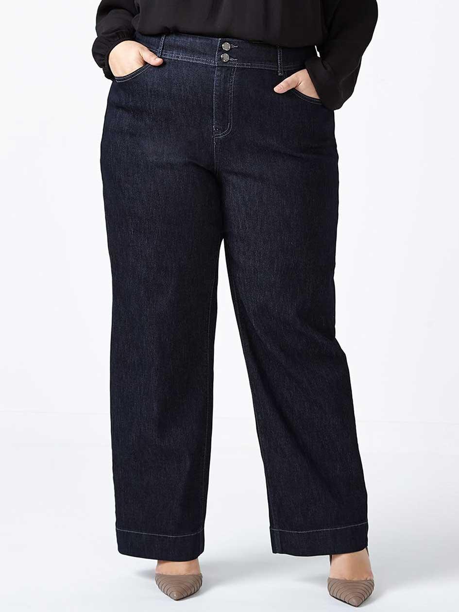 d/c JEANS - Petite Curvy Fit Wide Leg Jean