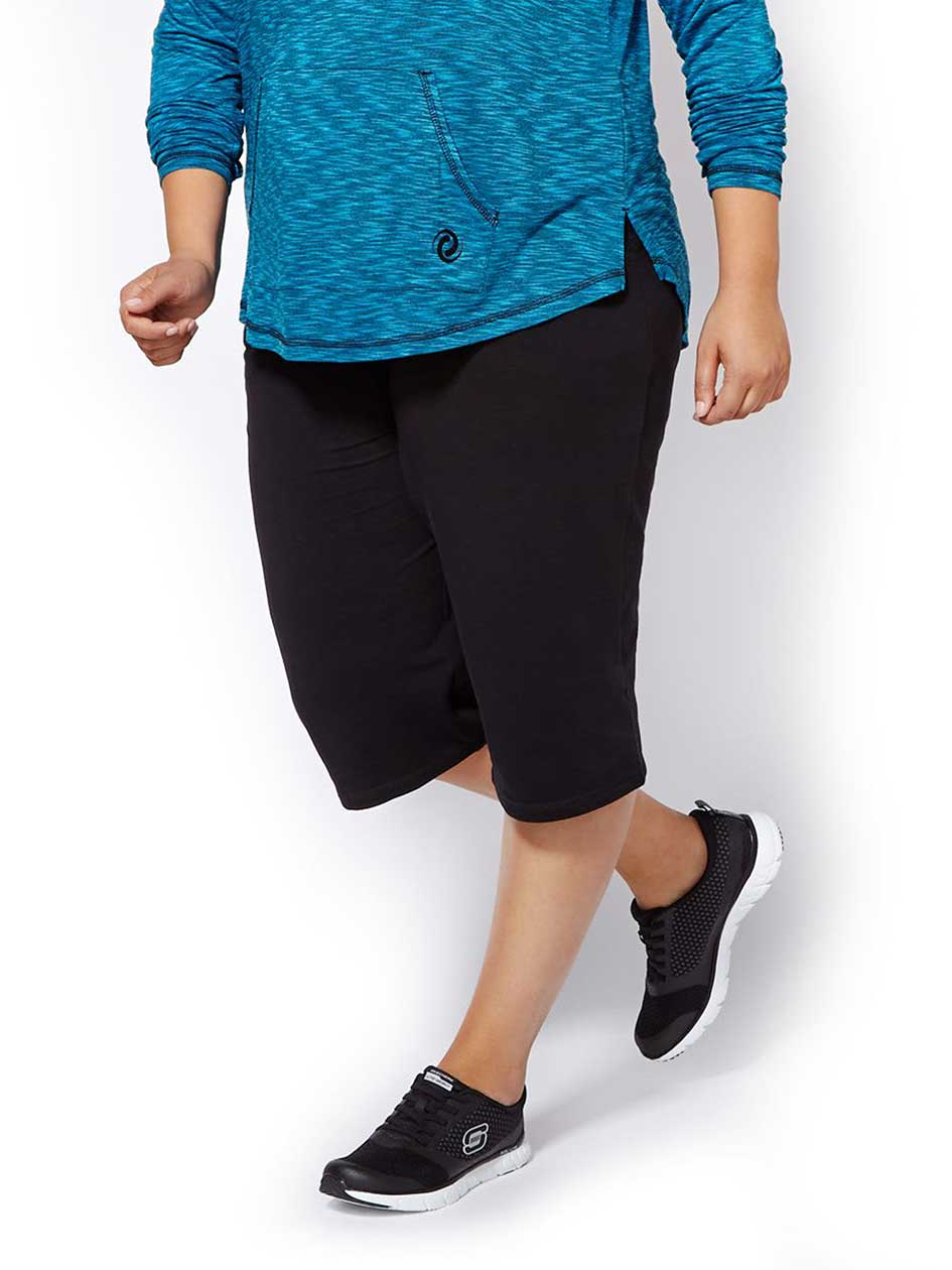 Essentials - Plus-Size Basic Relaxed Capri