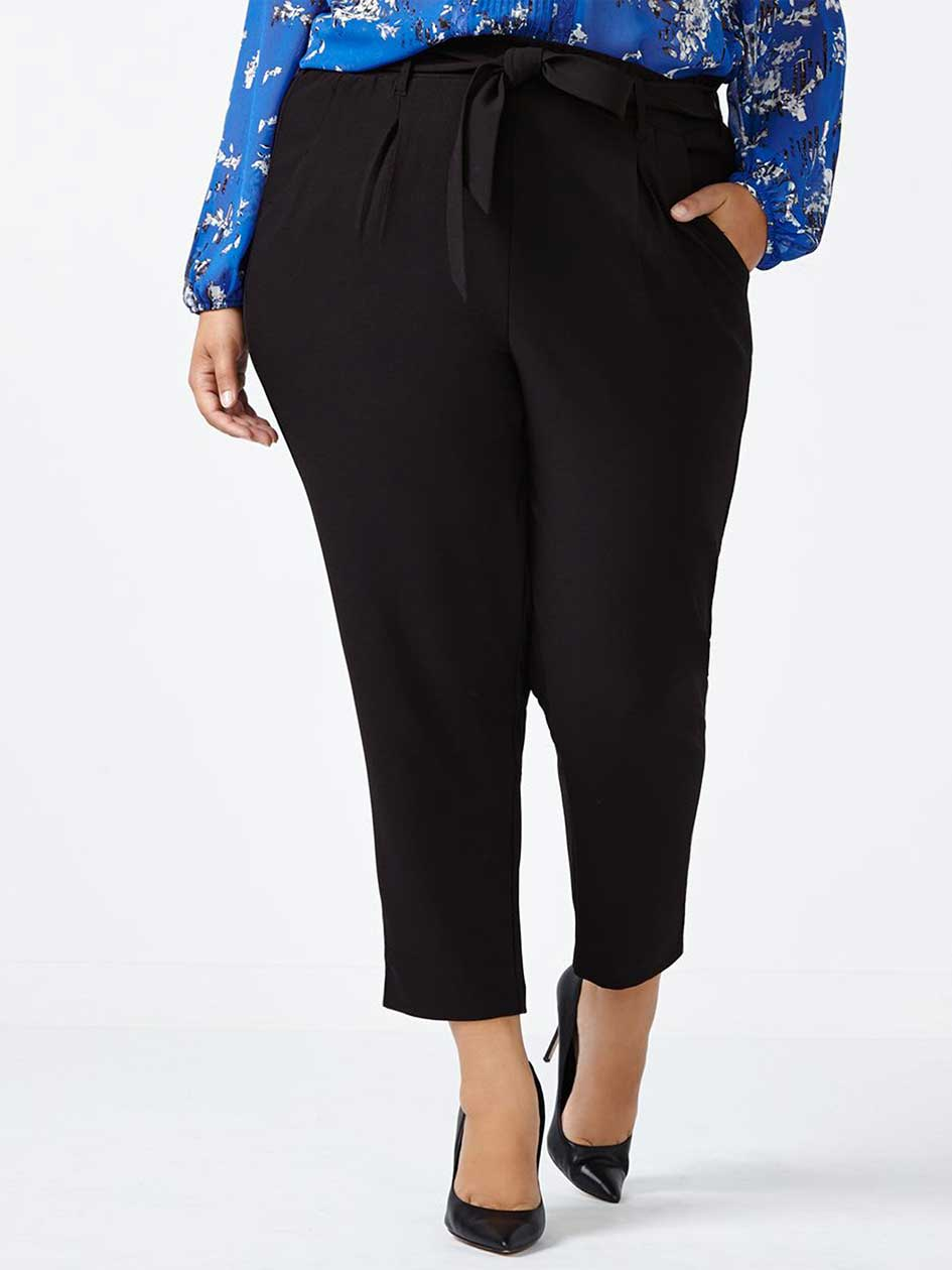 Soft Cropped Pant with Sash