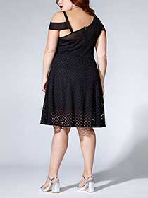 Tess Holliday - Sleeveless Fit and Flare Dress with Mesh