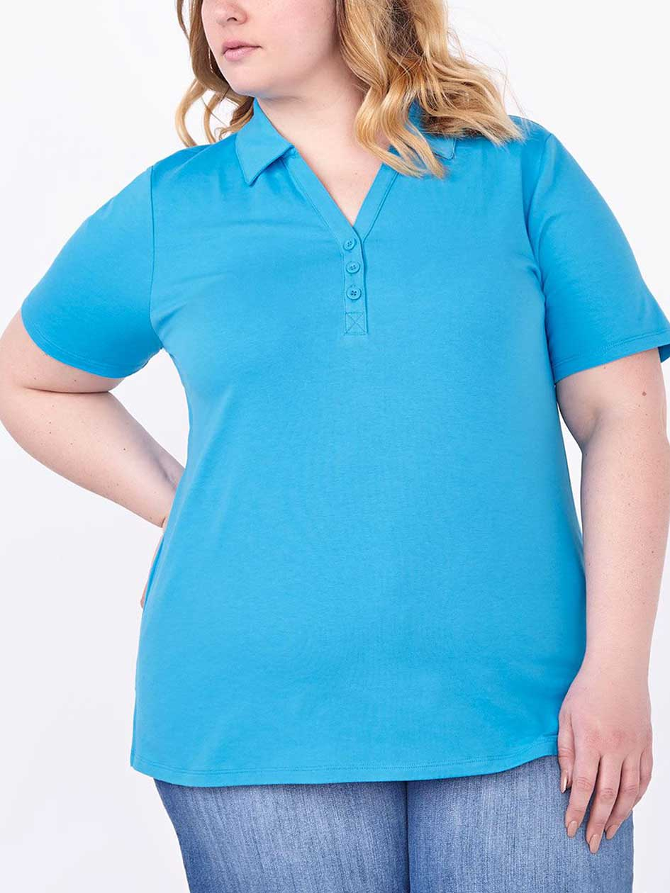 Shaped Fit Short Sleeve Polo Shirt