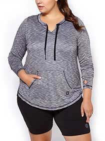 Essentials - Long Sleeve Plus-Size Top