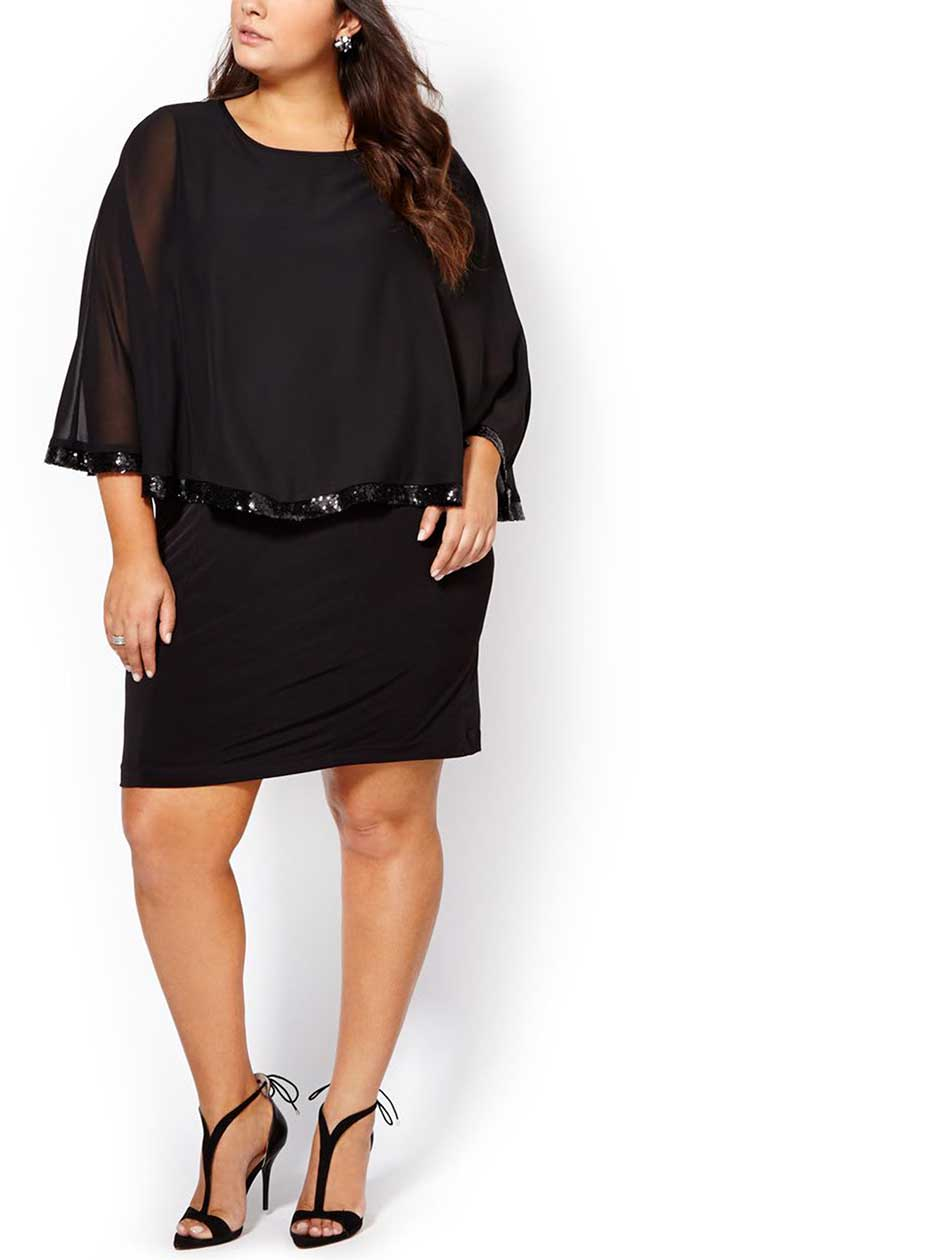 ONLINE ONLY - Chiffon Sleeve Short Dress
