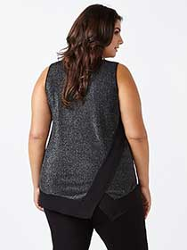 Shimmering Tank Top with Asymmetric Back