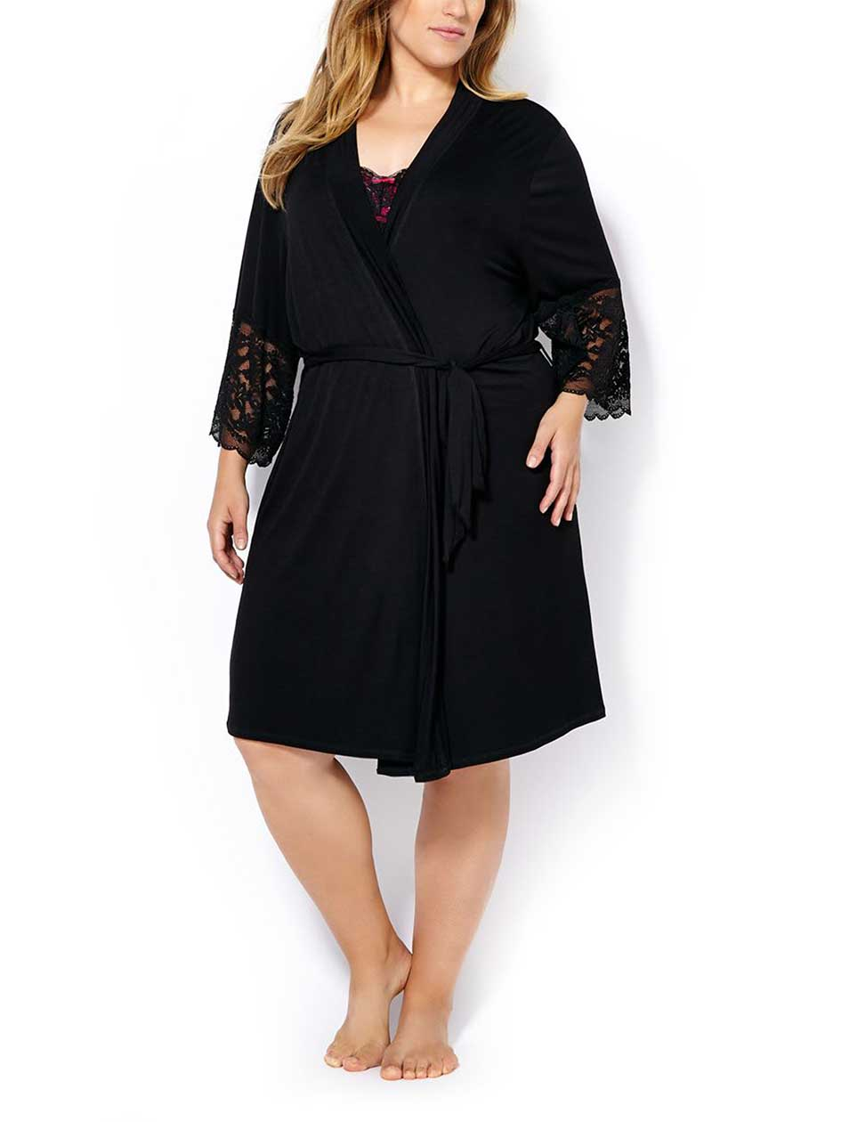 Ti Voglio - 3/4 Sleeve Robe with Lace
