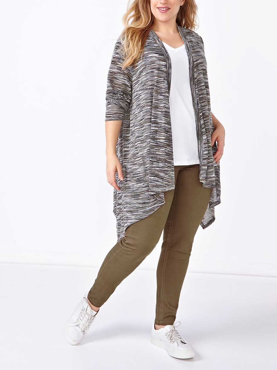 Long Sleeve Two-Toned Cardigan