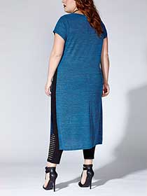 Tess Holliday - Short Sleeve Tunic with High Slits
