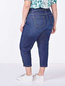 d/c JEANS Straight Fit Straight Leg Denim Capri