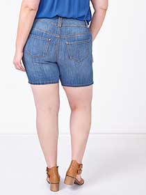 d/c JEANS Slightly Curvy Fit Embroidered Denim Short