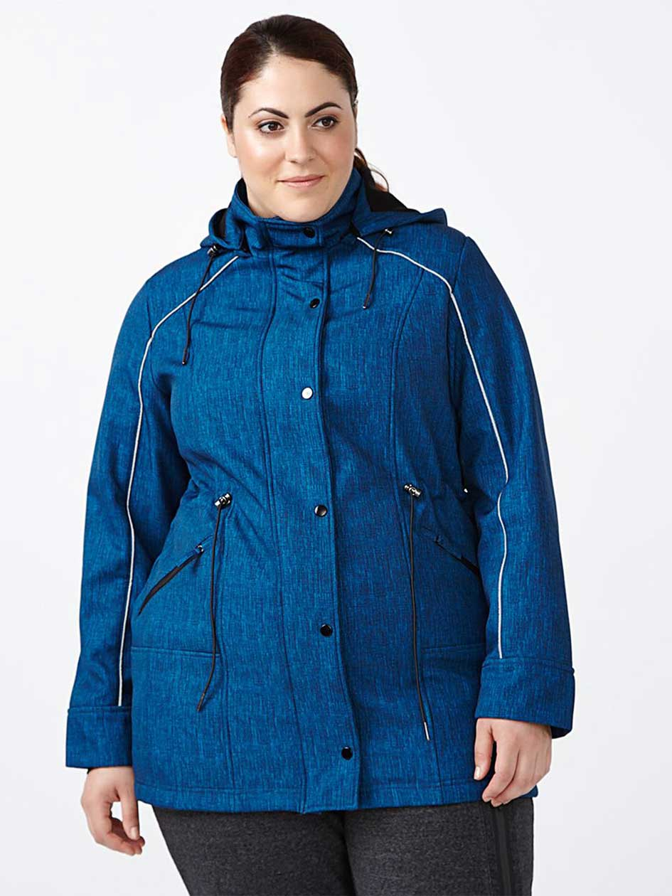 ActiveZone Plus-Size Hooded Printed Jacket